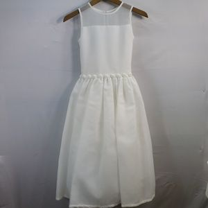 US ANGELS ALL ORGANZA DRESS WITH BEADED FLOWERS